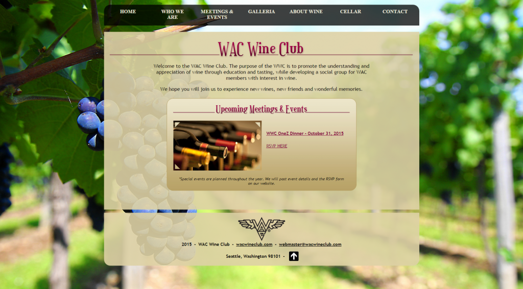 Washington Athletic Club (WAC) Wine Club